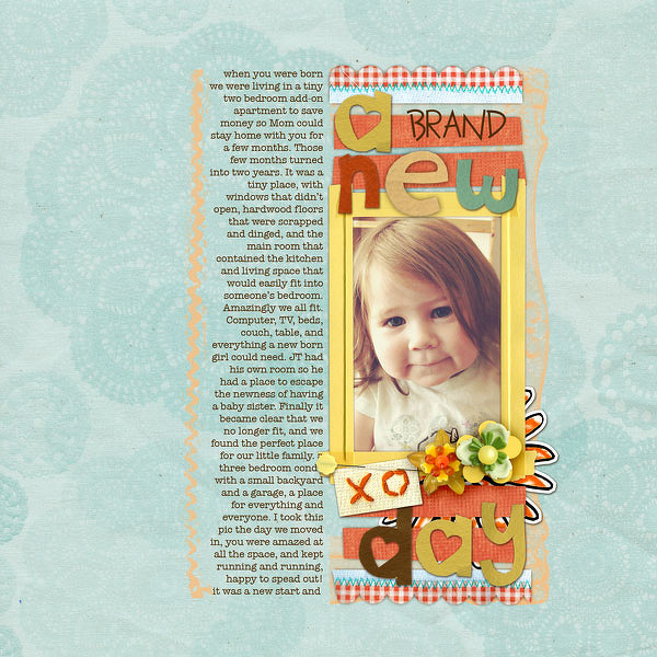 a scrapbook page of Lulu