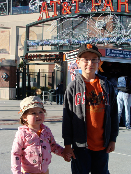 JT and Lulu at the Giants Game
