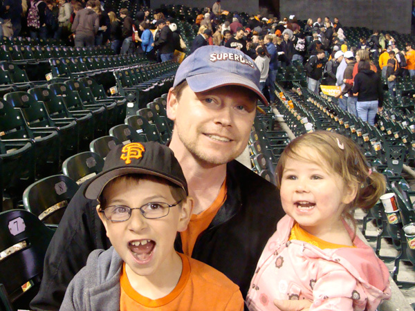 JT Joel and Lulu at the Giants Game May 28, 2010