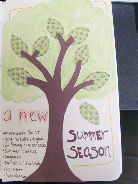 Art Journal Page Summer Season