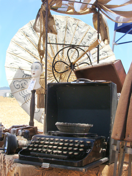 steampunk typewriter and other accessories