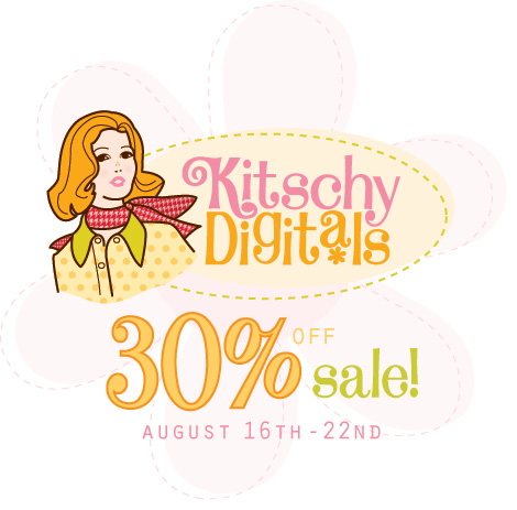 30 percent off sale for Kitschy Digitals