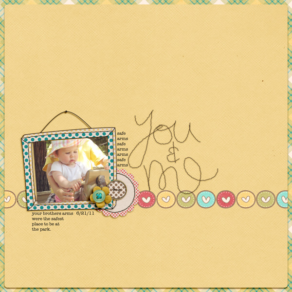 digital scrapbooking page