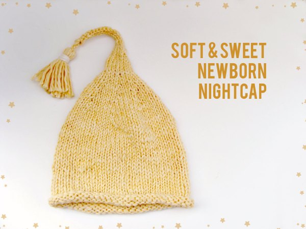Soft & Sweet Newborn Nightcap, Yellow Organic Cotton & Bamboo