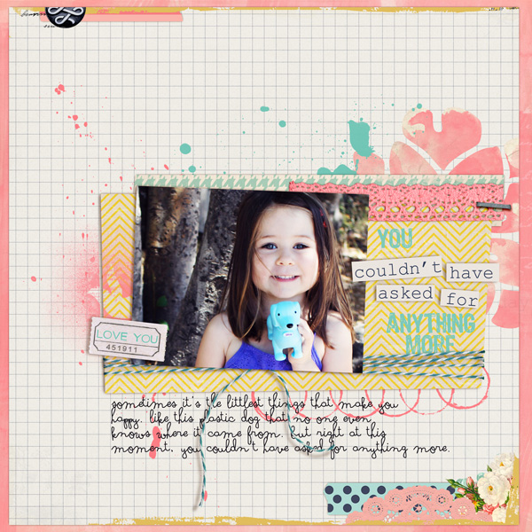 Couldn't Have Asked Digital Scrapbook Page by Tania Shaw