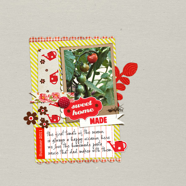 digital scrapbook page for Kitschy Digitals
