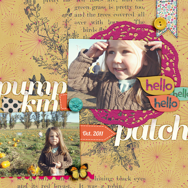 Pumpkin Patch Digital Scrapbook Page by Tania Shaw