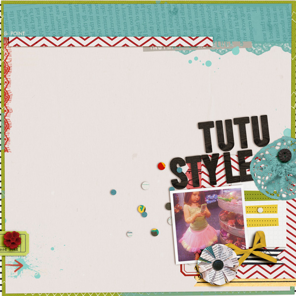 Tutu Style Digital Scrapbook Page by Tania Shaw